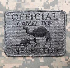 OFFICIAL CAMEL TOE INSPECTOR TACTICAL ACU DARK VELCRO® BRAND FASTENER PATCH