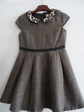 GIRLS KIDS GORGEOUS TU AUTUMN WINTER TWEED OCCASION DRESS AGE 4 YEARS YRS NEW