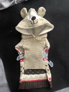 Reindeer Christmas Pet Hoodie Sweater -XXS