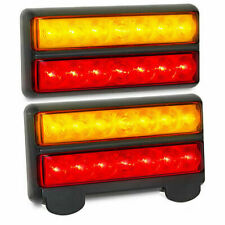 GENUINE LED BRAND SUBMERSIBLE BOAT TRAILER TAIL LIGHTS LAMPS PAIR WATERPROOF 12V