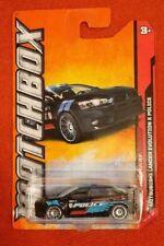 Matchbox Mitsubishi Lancer Evolution X Police Car Black Free US shipping