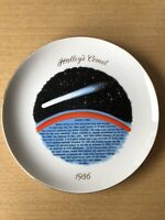 "1986 Halley's Comet 9"" Plate By Spencer Gifts 1985 Japan Next Appears 2061"