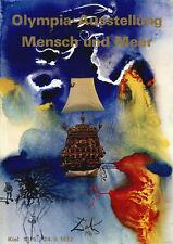 """Olympische Spiele 1972 München Motiv """"Mensch und Meer"""" DIN A0 Salvador Dali"""