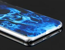 Blue Fire Skull  Halloween Protective Case Back Cover for Apple iPhone 6 Plus