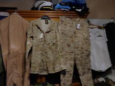 USMC MARPAT Uniform Desert Combat Shirt & Pants in size  large regular NEW W TAG