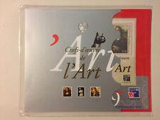 Bloc Timbres feuillet 23 Chefs d'Oeuvre de l'art  pochette grise sous blister