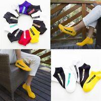 1 Pair Men Fashion Ankle Socks Low Cut Crew Casual Sport Color Cotton Socks: