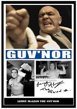 229.  LENNY McLEAN THE GUVNOR   SIGNED  PHOTOGRAPH GREAT GIFT