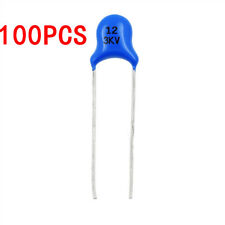 100PCS 3KV 12PF 3000V High-voltage Ceramic Capacitor