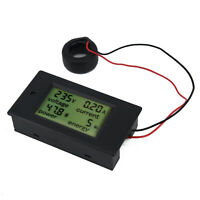 AC100A 26KW LCD Panel Digital Power Watt Meter Monitor Voltage Voltmeter Ammeter