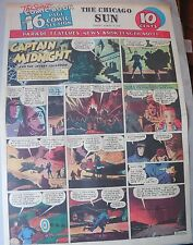 Captain Midnight Sunday #6 by Jonwon from 8/9/1942 Large Rare Full Page Size!