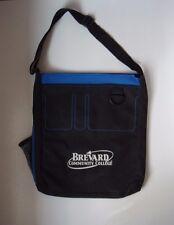 LEED'S Black Blue Brevard Community College Logo Travel Tote Book Bag