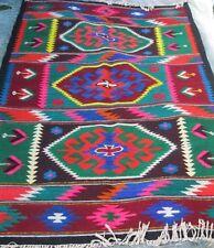 Antique Romanian traditional carpet, kilim, two sided wool rug  Transylvania 60