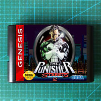 The Punisher ☠ ☢ in  Streets of Rage 2 For SEGA GENESIS Mega Drive