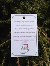 10 x Santa's Magic Key Tags, Christmas Eve Magic, Labels, Fundraising