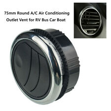 1PCS 75MM Car Black ABS Round A/C Air Conditioning Outlet Vent for RV Bus Boat