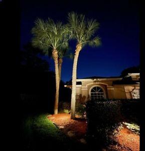 Naxos mini-spots DIY resort light kit 4 outdoor landscape lighting w transformer