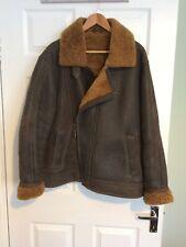 mens flying jacket leather sheepskin