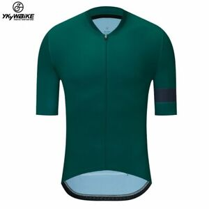 YKYWBIKE 2021 Breathable Pro Cycling Jersey low cut collar  Summer Mtb Clothes