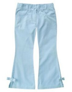 NWT Gymboree Petite Mademoiselle Light Blue Girls Bell Bottom Pants Size 6