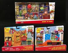 New TOY STORY MINIS Lot 10 PACK FIGURES Andy Room WESTERN ADVENTURE Playset CAKE