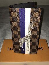 Louis Vuitton Brazza Wallet Savane Giraffe Damier Ebene N63347