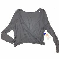 Joylab Size Medium Shirt Top Athletic Womens Grey Ribbed NEW Target