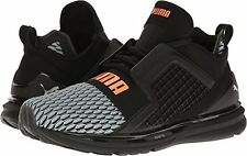 Puma Mens Ignite Limitless Colorblock Running Shoes - Black- White
