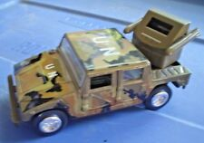 """DIE-CAST ARMY VEHICLE WITH MISSEL LAUNCHER IN BED """"REV-N-GO"""""""