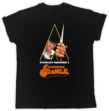 CLOCKWORK ORANGE POSTER COOL RETRO  BIRTHDAY PRESENT GIFT  MENS BLACK T SHIRT
