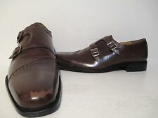 Giorgio Brutini Mens Carbonne Leather Double Monk Loafer Dress Shoes Brown 9 M