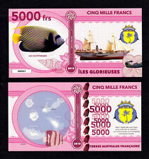ILES GLORIEUSES ● TAAF / COLONIE ● BILLET POLYMER 5000 FRANCS ★ N.SERIE 000005