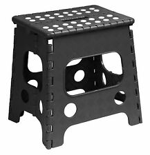 Folding Plastic Step Stool Black (13 Inch) -255BK (Superior Performance) 255B