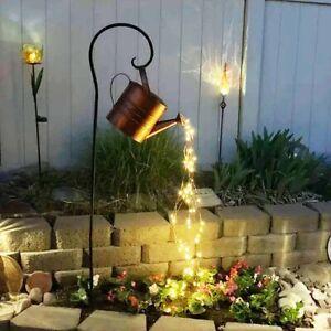 Watering Can Shower Garden Art Light Decoration Waterfall Lights for Outdoor