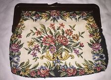 Vintage INTERPUR Hong Kong Tapestry Handbag Purse Clutch Hong Kong