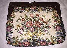 Vintage INTERPUR Hong Kong Tapestry Handbag Purse Clutch Hong Kong