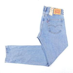 LEVIS 505 4843 Bleu Clair Délavé 40X34 Standard Droit Jeans Hommes Neuf