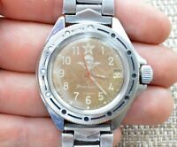 Watch USSR Vostok Komandirskie Mechanical Soviet Russian Wristwatch Wostok Rare