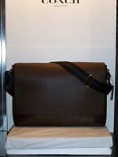 COACH F54792 CHARLES MESSENGER BRIEFCASE LAPTOP CROSSBODY BAG MAHOGANY MSRP $450