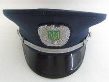 Genuine Ukraine Ukrainian Officers Police Men Visor Hat Cap uniform size 57cm