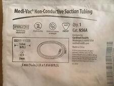 5 pkg Cardinal Health Medi-Vac Non-Conductive Suction Tube N56A New medical