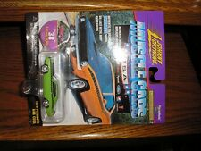 RARE Johnny Lightning Muscle Cars #38 1970 Plymouth AAR Cuda Lime Gree Free Ship