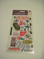 Scrapbooking Crafts Stickers Sticko Las Vegas Dancer Casino Slot Machine Cards