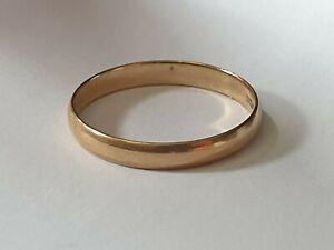BERKER BROS 375 9ct Yellow Gold Wedding Ring Band - Size R - 1.4g B.Bros 3mm