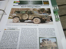 Archiv Militärfahrzeuge Leichte Panzer 60.1 MTW Reumech RG 31 Charger/Nyala Süda