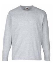 Magliette, maglie e camicie grigi casual per bambini dai 2 ai 16 anni 100% Cotone