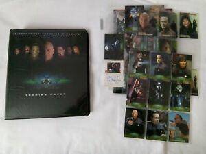 STAR TREK NEMESIS TRADING CARD SET WITH BINDER+SUB SETS+PROMO CARDS+SIGNED PHOTO