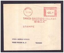 Timbro Meccanico Rosso 5 lire Biella Banca Gaudenzio Sella 1955 WB1317