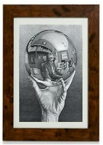 Hand with Reflecting Sphere Framed Print By M. C. Escher
