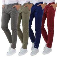 Pantaloni Uomo Estivi Cotone Leggeri Slim FIt Chino Casual Elegante